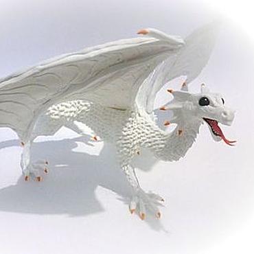"""Куклы и игрушки ручной работы. Ярмарка Мастеров - ручная работа Фигурка """"Снежный дракон"""". Handmade."""