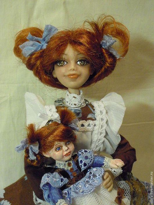 Коллекционные куклы ручной работы. Ярмарка Мастеров - ручная работа. Купить Натка-шоколадка. Handmade. Голубой, ручная роспись