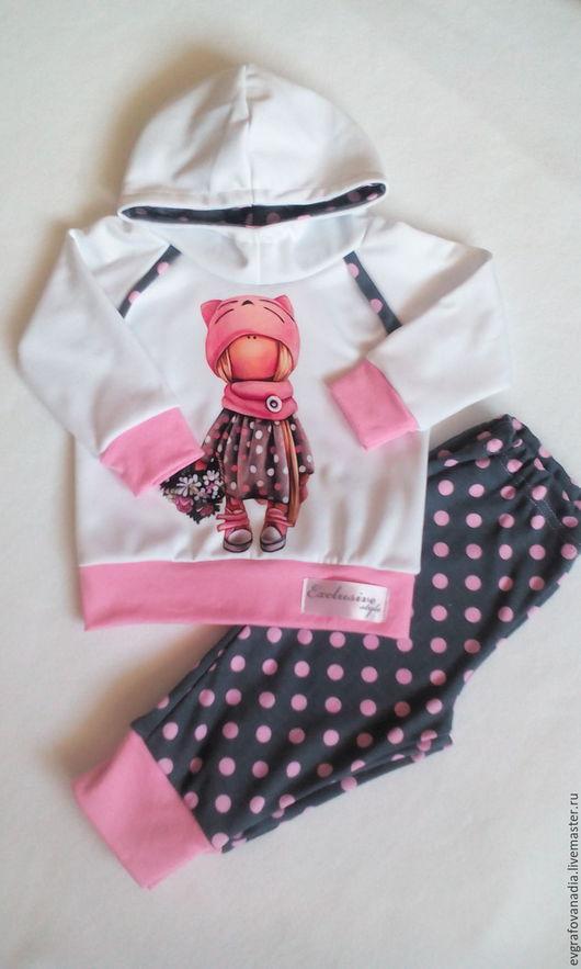 """Одежда ручной работы. Ярмарка Мастеров - ручная работа. Купить Костюмчик для девочки """"Тильда"""". Handmade. Комбинированный, свитшот с принтом, сублимация"""