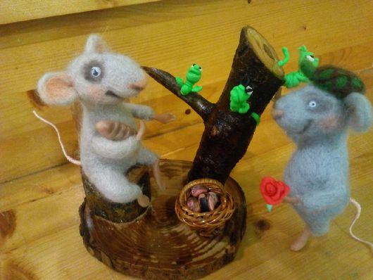 Игрушки животные, ручной работы. Ярмарка Мастеров - ручная работа. Купить Весна пришла.мышиное свилание. Handmade. Мыши
