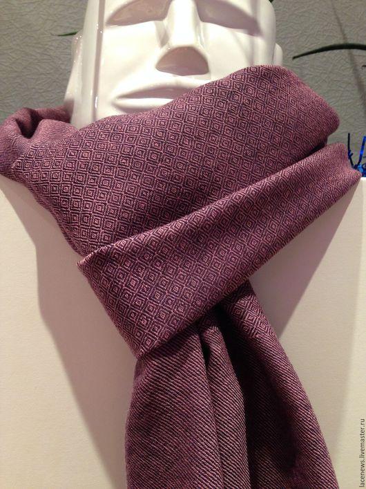 Винтажная одежда и аксессуары. Ярмарка Мастеров - ручная работа. Купить Шарф 100% шерсть мериноса жаккардовое плетение 36Х180 см новый. Handmade.