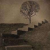 """Картины и панно ручной работы. Ярмарка Мастеров - ручная работа Фотокартина """"Дерево на холме"""". Handmade."""