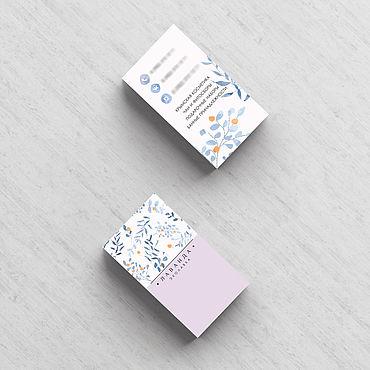 Дизайн и реклама ручной работы. Ярмарка Мастеров - ручная работа Двухсторонняя визитка на заказ. Handmade.