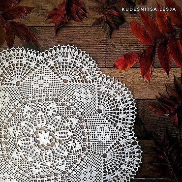 Для дома и интерьера ручной работы. Ярмарка Мастеров - ручная работа Салфетка из белого хлопка. Handmade.