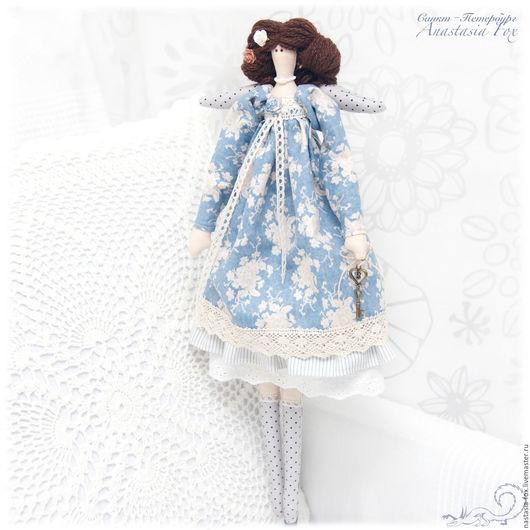 """Куклы Тильды ручной работы. Ярмарка Мастеров - ручная работа. Купить Ангел в стиле Бохо """"Голубая мечта"""". Handmade. Голубой"""