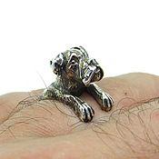 Украшения handmade. Livemaster - original item Sterling Silver Boxer Ring, Boxer Dog Ring, Silver Ring Dog. Handmade.