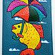 обложка на паспорт детская, обложка на паспорт для мальчика, обложка с рыбкой