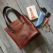 handmade. Livemaster - original item Genuine leather tote Bag. Handmade.