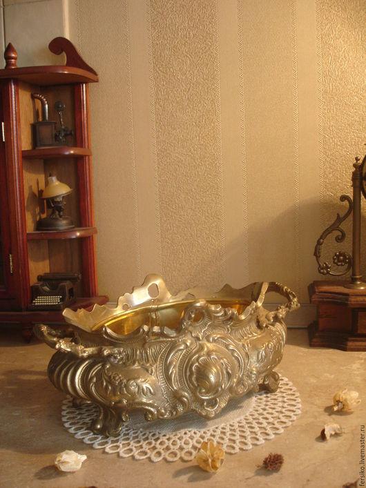 Винтажные предметы интерьера. Ярмарка Мастеров - ручная работа. Купить Старинная бронзовая жардиньерка!!!. Handmade. Старинная жардиньерка, антикварная жардиньерка