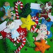 Мягкие игрушки ручной работы. Ярмарка Мастеров - ручная работа Елочные игрушки из фетра. Handmade.
