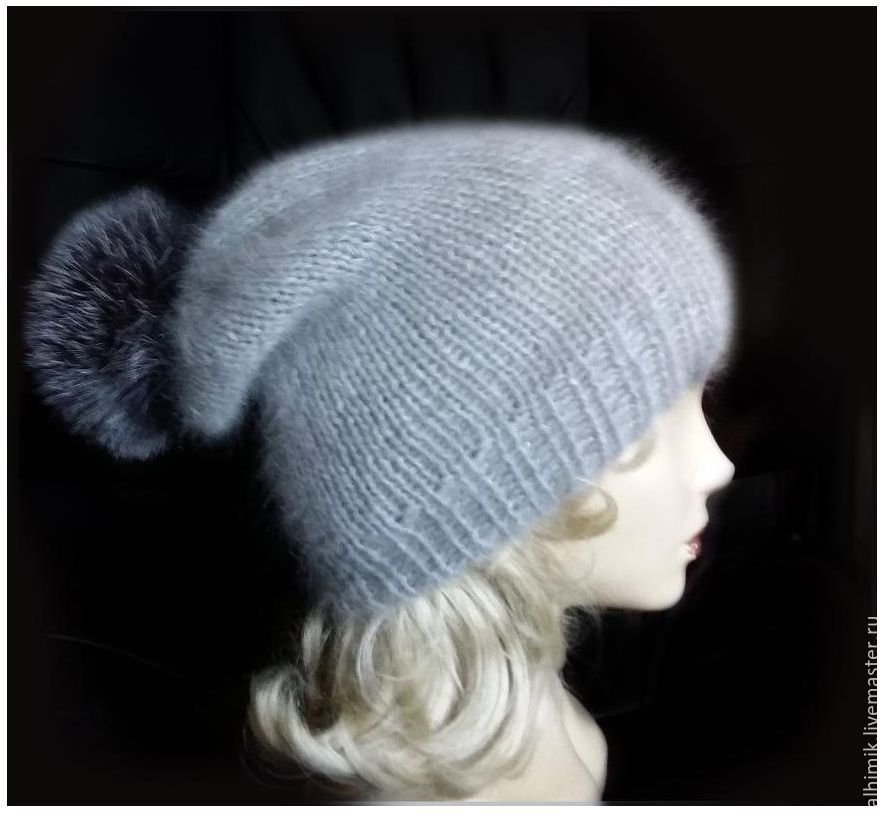 Вязание шапок из ангоры 87