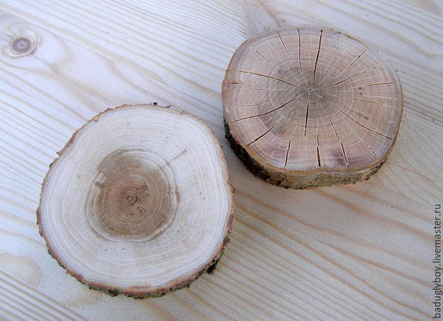 Спилы дерева для декупажа