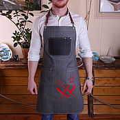 Фартуки ручной работы. Ярмарка Мастеров - ручная работа Фартук стилиста с подкладкой. Handmade.