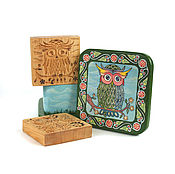 Для дома и интерьера handmade. Livemaster - original item Gift set with large presses for the dough owl. Handmade.