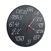 Для дома и интерьера ручной работы. Ярмарка Мастеров - ручная работа Настенные часы Учитель математики. Handmade.