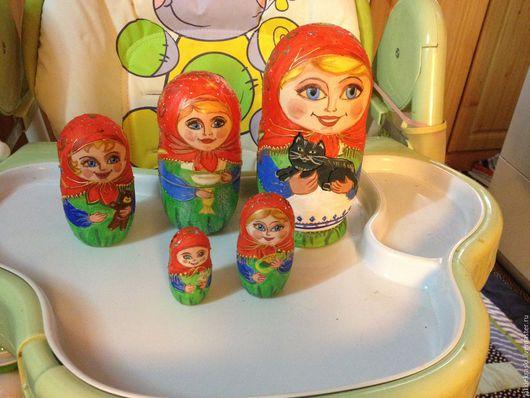 Народные куклы ручной работы. Ярмарка Мастеров - ручная работа. Купить Матрёшка 5 мест. Handmade. Матрешка, игрушка, русский