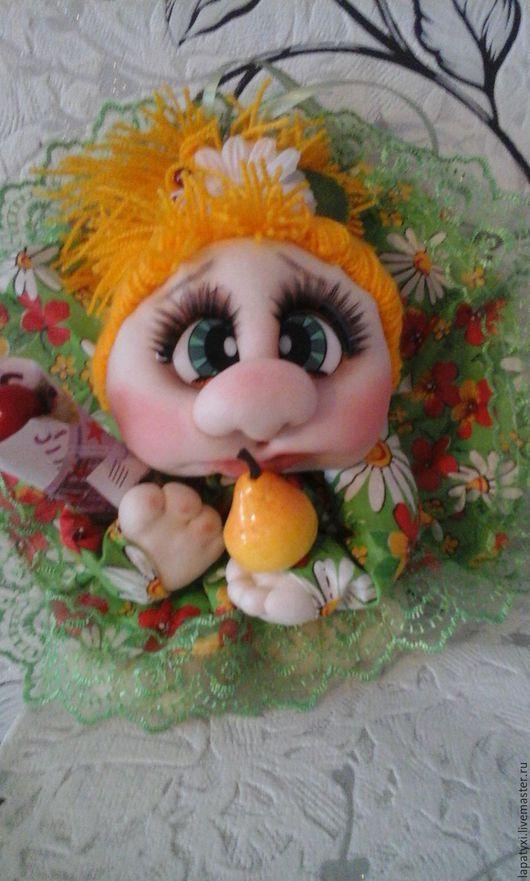 """Человечки ручной работы. Ярмарка Мастеров - ручная работа. Купить Кукла попик """"кукла на удачу. Handmade. Рыжий, Глаза"""