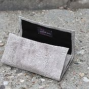 Сумки и аксессуары handmade. Livemaster - original item Beauticians: A pouch for tobacco Grey leather under the reptile. Different colors. Handmade.