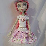 Куклы и игрушки ручной работы. Ярмарка Мастеров - ручная работа Одежда для куклы Монстер Хай (Monster High) Юбка и футболка. Handmade.