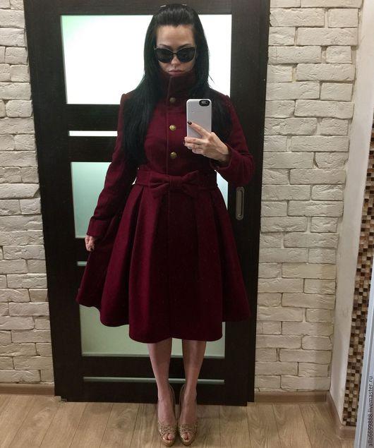 """Верхняя одежда ручной работы. Ярмарка Мастеров - ручная работа. Купить Пальто-платье с поясом """"бант"""". Handmade. Пальто"""