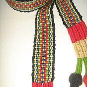 Одежда ручной работы. Ярмарка Мастеров - ручная работа Тканый пояс. Handmade.