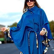 Одежда ручной работы. Ярмарка Мастеров - ручная работа Пальто-пончо из шерсти с кашемиром. Handmade.