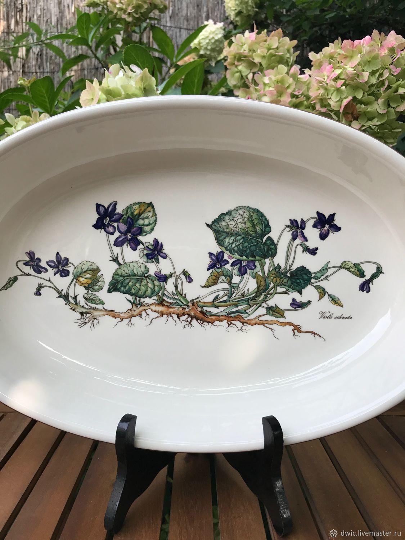Violets Dish, Villeroy&Boch, Botanica, Luxembourg, Vintage sets, Arnhem,  Фото №1