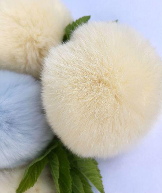 Вязание ручной работы. Ярмарка Мастеров - ручная работа. Купить Помпон из кролик рекс. Handmade. Помпон, помпон из меха