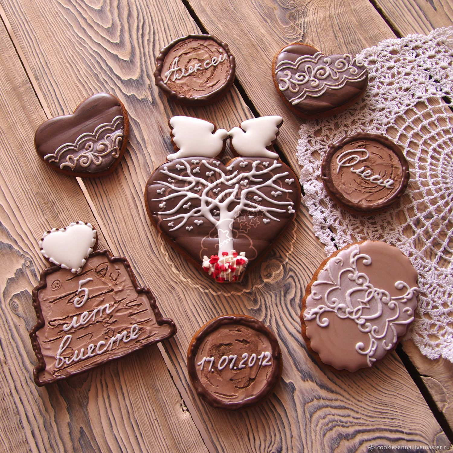 Gingerbread for a wooden wedding, Gingerbread Cookies Set, St. Petersburg,  Фото №1