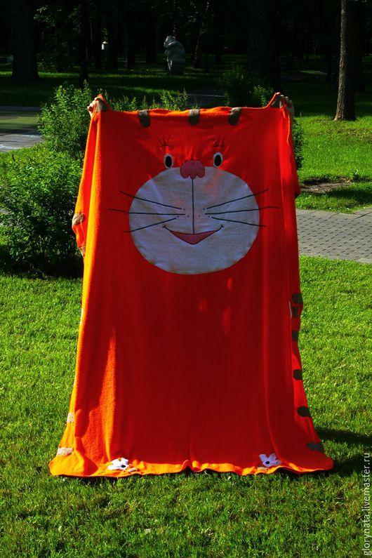 Текстиль, ковры ручной работы. Ярмарка Мастеров - ручная работа. Купить Полотенце-покрывало Кот. Handmade. Рыжий, пляж