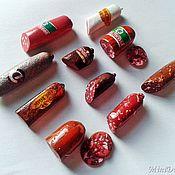 Куклы и игрушки handmade. Livemaster - original item Sausages for Dollhouse miniature Food for dolls. Handmade.