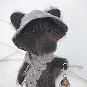 Куклы и игрушки ручной работы. Ярмарка Мастеров - ручная работа Берн, смотритель маяка, валяный черный волк. Handmade.