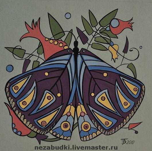 Картина «Бабочка. Композиция в треугольнике». Авторские картины. «Forget-me-not» - живопись и реставрация. Ярмарка Мастеров.
