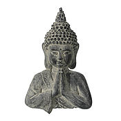 Для дома и интерьера handmade. Livemaster - original item The statue-panels Buddha large concrete gray with dust. Handmade.