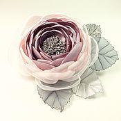 Украшения handmade. Livemaster - original item Rose Of The Morning Valley. Brooch - handmade flower made of fabric. Handmade.