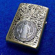 Сувениры и подарки handmade. Livemaster - original item Lighter Zippo Constantine Silver. Handmade.