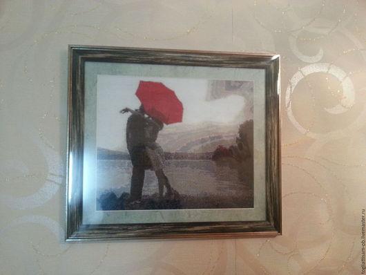 Репродукции ручной работы. Ярмарка Мастеров - ручная работа. Купить Картина. Вышивка крестиком.. Handmade. Комбинированный, подарок, любовь, интерьер