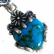 handmade. Livemaster - original item Turquoise in silver . hypoallergenic earrings. Handmade.
