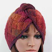 Аксессуары handmade. Livemaster - original item Entrelac turban, entrelac beanie, entrelac hat, knit turban, knit bean. Handmade.