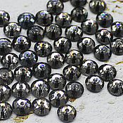 Материалы для творчества handmade. Livemaster - original item Crystals: Rhinestones-sequins black diamond 5h5 mm sewn 10 PCs. Handmade.