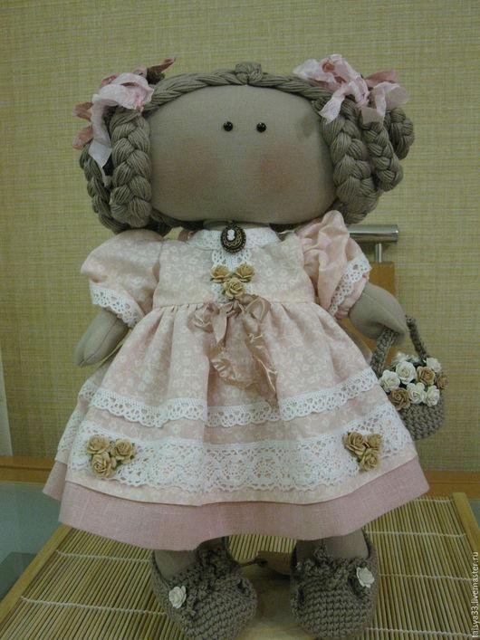 Куклы тыквоголовки ручной работы. Ярмарка Мастеров - ручная работа. Купить Анисия кукла текстильная. Handmade. Розовый, уют