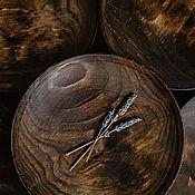 Посуда handmade. Livemaster - original item A set of Wooden Saucers (6 PCs) 25 cm 100%#44. Handmade.