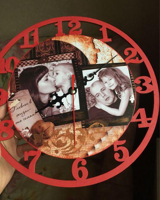 Часы для дома ручной работы. Ярмарка Мастеров - ручная работа. Купить Часы декупаж с фото. Handmade. Часы, часы настенные