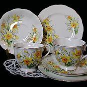 Чайное ТРИО НАРЦИССЫ от Royal Albert Англия