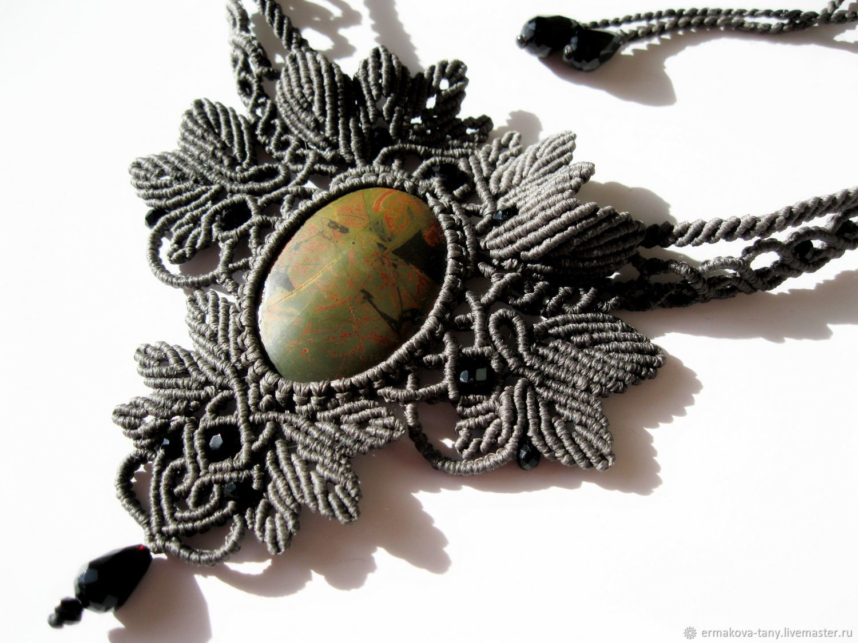 Necklace Grey lace, Necklace, Tolyatti,  Фото №1