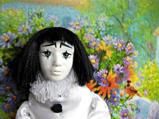 Коллекционные куклы ручной работы. Ярмарка Мастеров - ручная работа. Купить Кукла Пьеро. Handmade. Чёрно-белый, кукла