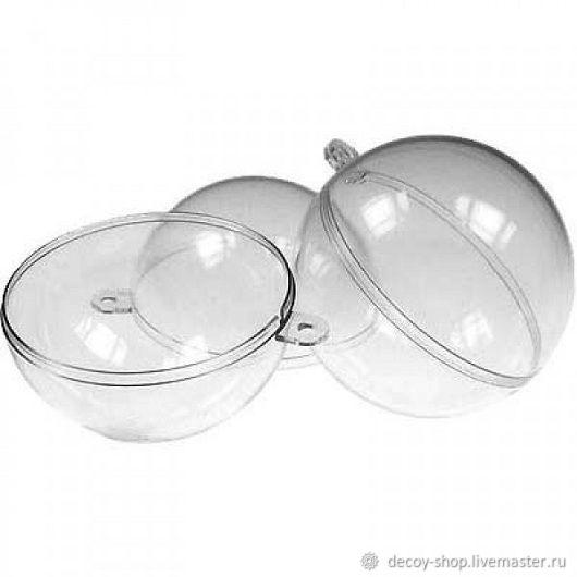 Blank 'Ball', plastic split (2 sizes), Blanks for decoupage and painting, Serpukhov,  Фото №1