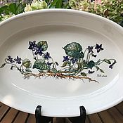 Винтаж handmade. Livemaster - original item Violets Dish, Villeroy&Boch, Botanica, Luxembourg. Handmade.