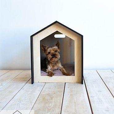Товары для питомцев ручной работы. Ярмарка Мастеров - ручная работа Домик Loft Cabin для собак и кошек. Handmade.