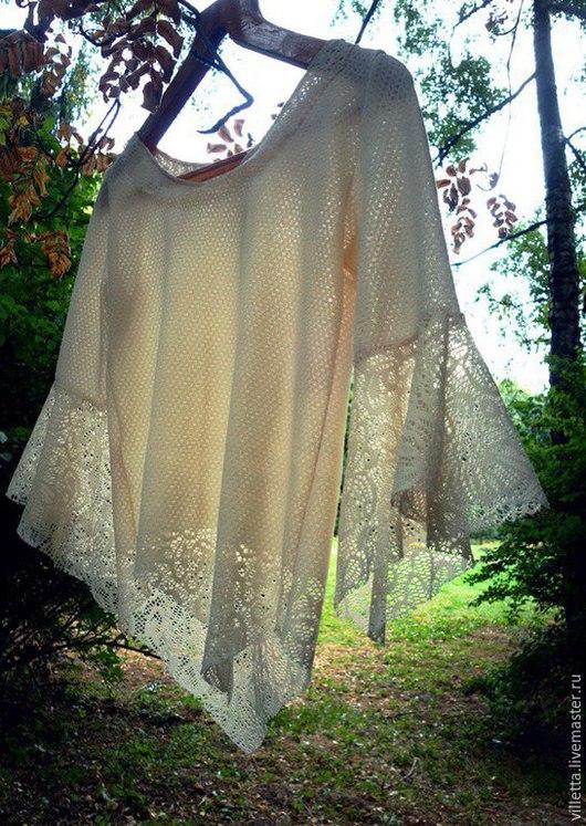 """Блузки ручной работы. Ярмарка Мастеров - ручная работа. Купить Блузка """"Shady garden"""". Handmade. Белый, женственность, летящее, эльфийское"""